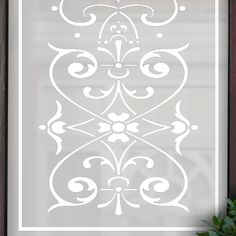 Bess Victorian Etch Glass Pattern by Purlfrost Bathroom Window Treatments, Bathroom Windows, Georgian Interiors, Window Film, Glass Etching, Door Design, Frost, Bedroom Ideas, Barn