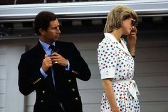 Prince Charles & Princess Diana not looking too happy