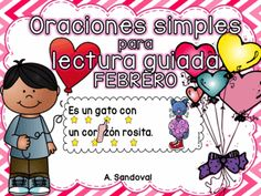 "Simple Sentences in SPANISH FEBRUARY from Angelica Sandoval on TeachersNotebook.com -  (55 pages)  - ***FEBRUARY SPANISH*** I've had students pretend they are reading and as they are ""reading"" they are pointing to the wrong word. You can relate, right? Well, I created these cards to help with that s"