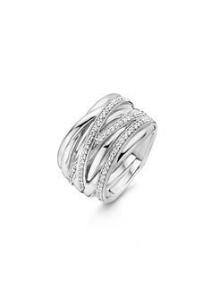 TI SENTO – Milano Ring (reference: 12067ZI) made of rhodium plated sterling silver. The rhodium plating provides extra shine and a longer lifetime of the jewellery. The ring is set with zirconia.
