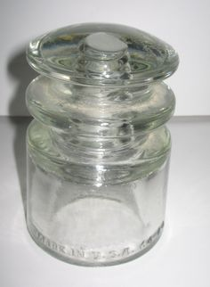 Clear Glass Insulator Armstrong Made in the USA by vintagehouses, $4.00