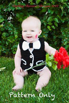 Baby Boy Vest & Bowtie Crochet PATTERN by DarlingDerriere on Etsy, $5.50