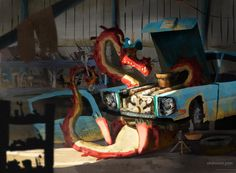 ArtStation - Should have called the mechanic, Olubunmi John