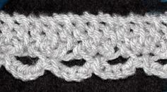 Loom Knit - Lace Edging tutorial