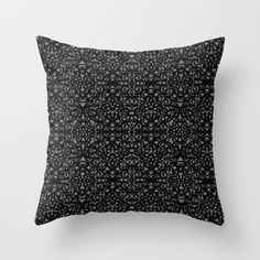 SOLD Throw Pillow Baroque Style Inspiration G151! https://society6.com/product/baroque-style-inspiration-g151_pillow#s6-1665909p26a18v126a25v193 #Society6 #Throw #Pillow #Baroque #black #damask #floral #pattern