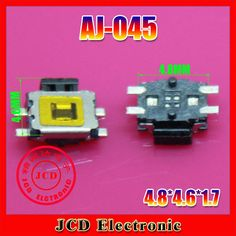 CK  100pcs Free Shipping Tact Push Button Switch Micro Switch smd 4pin Micro buttons ,AJ-045