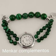 Reloj de malaquita. Precio €18. https://m.facebook.com/Menkar-complementos-515871928456062/