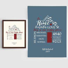 Haus aus Aufschriften in Holzrahmen, romantische Geschenkidee zum Valentinstag, Geschenk für ihn