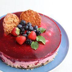 mascarponetaart met bramen en frambozen Cake Cookies, Cupcake Cakes, Cupcakes, Pie Dessert, Dessert Drinks, Bake My Cake, Baking Bad, Sweet Pie, Love Food