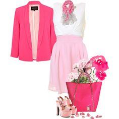 """Honestly Pink"" by lisa-holt on Polyvore"