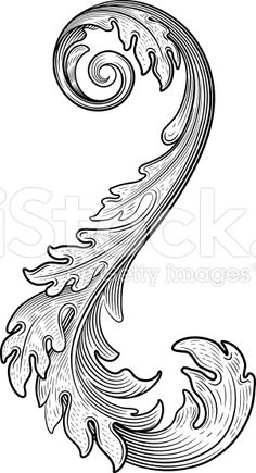 Find flourish floral stock images in HD and millions of other royalty-free stock photos, illustrations and vectors in the Shutterstock collection. Wood Carving Designs, Wood Carving Patterns, Wood Carving Art, Leather Carving, Leather Art, Leather Tooling Patterns, Leather Pattern, Arte Viking, Motif Baroque
