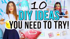 10 DIY Project Ideas You NEED To Try! Could use string on a frame instead of headbands! Cute ideas!