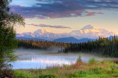 """Denali by Mike Criss """"View of Mt. McKinley with misty lake. Talkeetna, Alaska"""" Equipment: Canon 40D, 28-135mm Mike Criss – Photographer based in Wasilla, Alaska. I travel throughout the state of Alaska and capture it's unique landscapes and wildlife. Website: www.akphotograph.com"""