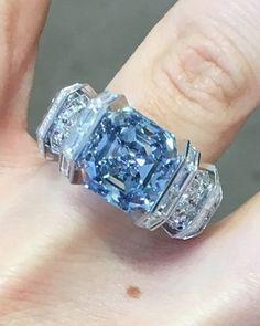 Cartier Sky Blue Diamond Ring By Sotheby's