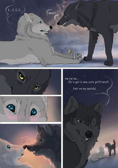 Off-White page 44 by akreon Off White Comic, Manga, Wolf Comics, Anime Wolf Drawing, Cartoon Wolf, Wolf Pictures, Fantasy Comics, Anime Furry, Creatures Of The Night