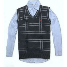 Ralph Lauren Men's Chestnut V-Neck Mesh Sweater Polo