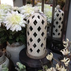 Harvest Lattice Lantern - Ceramic Lantern by Parlane | Cowshed Interiors