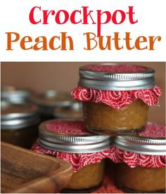 Crockpot Peach Butter Recipe! - at TheFrugalGirls.com - go grab your Slow Cooker and get ready for a delicious recipe. This also makes a great Gift in a Jar! #masonjars #slowcooker #recipes