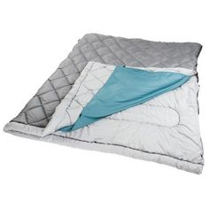 Coleman The Tandem 2 Person 81 x 66 In Sleeping Bag Grey/Blue