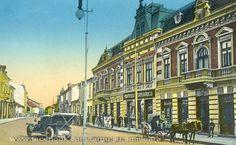 Targu Jiu - str Tudor Vladimirescu la inceputul secolului trecut Tudor, Romania, Street View, Places, Lugares