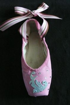 Decorative pointe shoe  pink diamond by PointePerfection1 on Etsy, $15.99