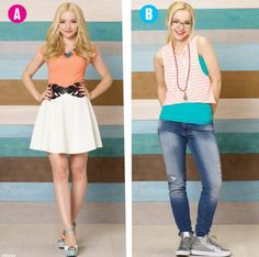 Which one do you like A Liv or B Maddie Pll Outfits, Casual Outfits, Dove Cameron Descendants, Liv Rooney, Dove Cameron Style, Disney Channel Stars, Debby Ryan, N Girls, Gilmore Girls