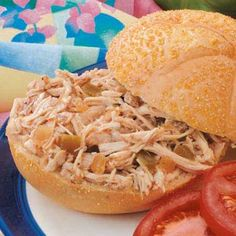 Italian Turkey Sandwiches  This is absolutely one of my favorite dishes to make...healthy, full of protein, and delicious! Quick crockpot meal and makes plenty.