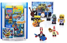 Mega Bloks SpongeBob Rock Band Figure Pack Code: 02105 To order: http://www.shopaholic.com.ph/#!/Mega-Bloks-SpongeBob-Rock-Band-Figure-Pack/p/57980427 Bikini Bottom is ready to groove with the Mega Bloks SpongeBob Square Pants Rock Band Figure Pack! Your favorite characters are decked out to rock out with the Jellyfish Jam Band's cool instruments and outfits.