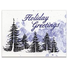 Evergreen Forest Business Holiday Greeting Card | On The Ball Promotions