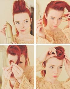 coiffure pin up: comment se faire une frange en suicide roll
