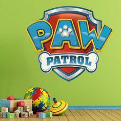 Stickers pour Enfants: La Pat Patrouille - Paw Patrol - Logo. Chambre d'enfant #Pat #Patrouille #enfance #deco #décoration #vinyle #mur #WebStickersMuraux