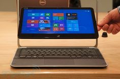Dell XPS 12 Windows 8 convertible - screen rotates to become a laptop or a tablet format.