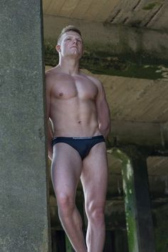Michael Measter in tiny black panties