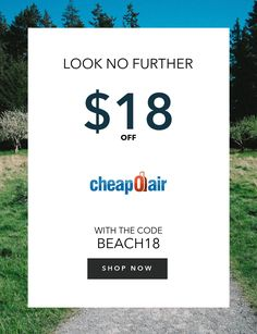 Life's a Beach! Take Up to $18 Off with Promo Code BEACH18 Book Now!