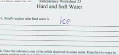 funny answers on school tests!