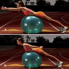 Stability Ball Lat Swim2   Women's Health Magazine