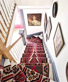 Curiosities around every corner ❤ Brick Bonds, Staircase Runner, Stair Runners, Recycled Brick, Tufted Bed, Brick Flooring, Stairway To Heaven, Luxury Bath, Historical Architecture
