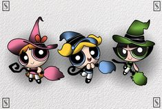 Toil And Trouble, Beltane, United Nations, Powerpuff Girls, Cartoon Network, Aesthetic Anime, Girl Tattoos, Witches, Besties