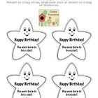 Cute toppers for your birthday kiddos. You can put them on pixie sticks, crazy straws or attach to a bag of Starbursts.Stars say: Happy Birthday ...