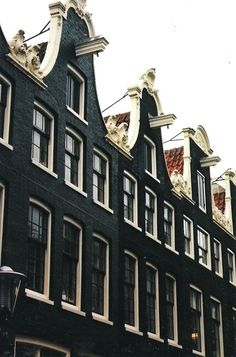 Neat row of black & white // Amsterdam