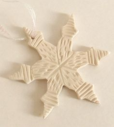 Large Porcelain Snowflake Ornament | Collections Happy Holidays | Gina DeSantis | Scoutmob Shoppe | Product Detail