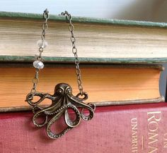 Sparkling Octopus Necklace by behressentials on Etsy, $24.00