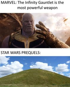 Should I put this in marvel or Star Wars? Prequel Memes, Movie Memes, Dc Memes, Marvel Memes, Marvel Dc, Simbolos Star Wars, Star Wars Jokes, Star Wars Pictures, Nerd