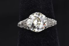 Ballin Outta Control - Old European Cut Diamond Solitaire Engagement Ring