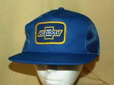 CHEVY HAT CHEVROLET PATCH VINTAGE YOUNG AN ADJ SNAPBACK BLUE SUMMER MESH MED LRG