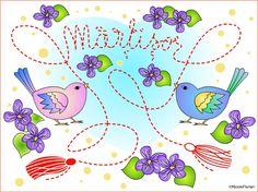Nicole's Free Coloring Pages: 1 Martie Martisor * Desen de colorat cu Martisor *...