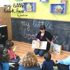 Taller cuentacuentos para presentar las cajas de @mylittlebookbox en la tienda Los Cinco Lobitos de Parla. http://www.mylittlebookbox.com/tienda/