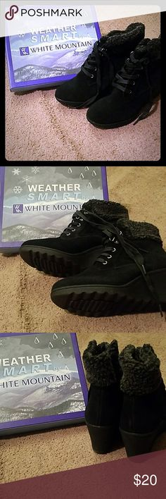 Ankle boots Never worn winter boots white mountain Shoes Ankle Boots & Booties