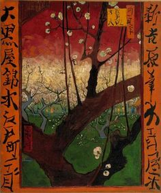Van Gogh / The blooming plum tree (after Hiroshige), 1887