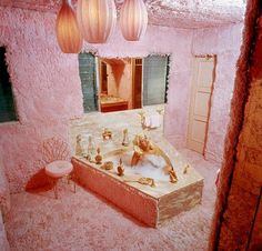 """No one could do fabulous like Jayne Mansfield. There was a reason her house (with it's heart shaped pool) was deemed """"The Pink Palace""""!"""